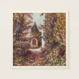SILENT AUTUMN IN FLORENCE PAPER NAPKIN