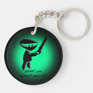 Silent black ninja assassin, armed and dangerous keychain