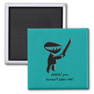 Silent black ninja assassin, armed and dangerous magnet