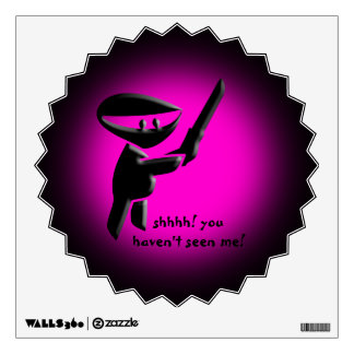 Silent black ninja assassin, armed and dangerous wall decal