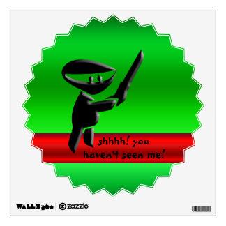 Silent black ninja assassin, armed and dangerous wall sticker