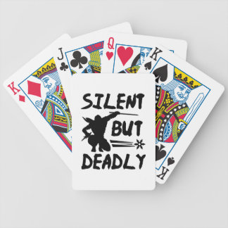 Silent But Deadly Bicycle Playing Cards
