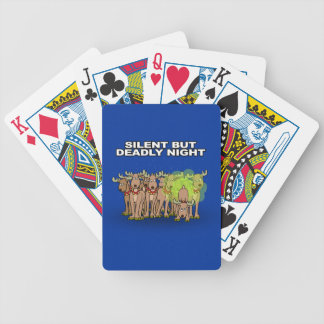 Silent But Deadly Night Bicycle Playing Cards