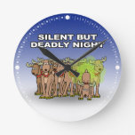 Silent But Deadly Night Clocks
