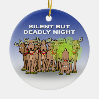 Silent But Deadly Night Christmas Ornament