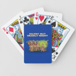 Silent But Deadly Night Poker Cards