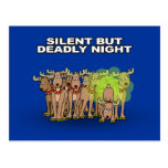 Silent But Deadly Night Postcard