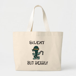 silent but deadly Ninja Fart Canvas Bags