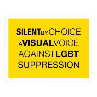 Silent By Choice Light Postcard