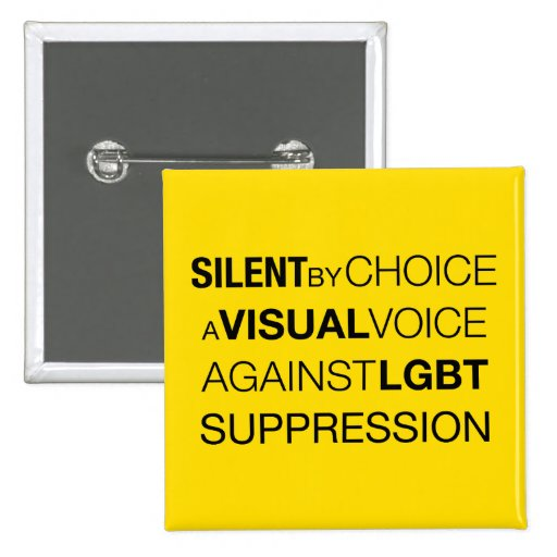 Silent By Choice Square Light Button