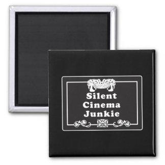 Silent Cinema Junkie Magnet