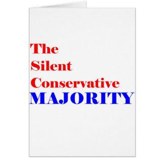Silent Conservative  Majority Member Greeting Card