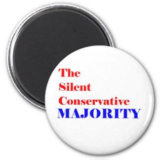 Silent Conservative  Majority Member Magnet