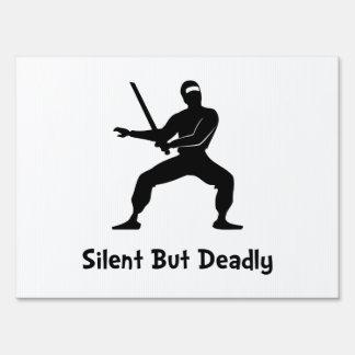 Silent Deadly Ninja Lawn Signs