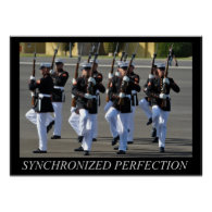Silent Drill Platoon (USMC) Poster