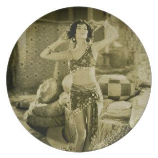 Silent Film Era Beauty Sterevoview Card Plate