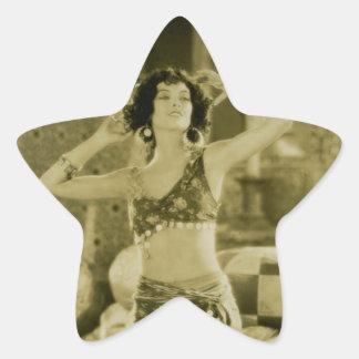 Silent Film Era Beauty Sterevoview Card Star Sticker