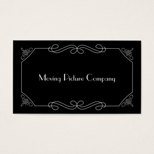 silent film intertitle business card | zazzle, Powerpoint templates