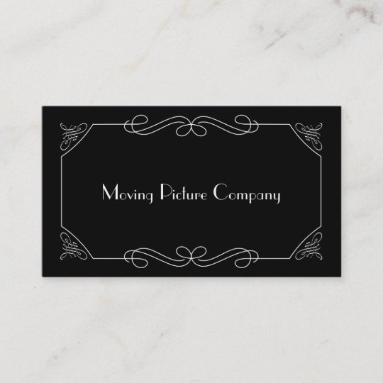 Silent Film Intertitle Business Card | Zazzle.com