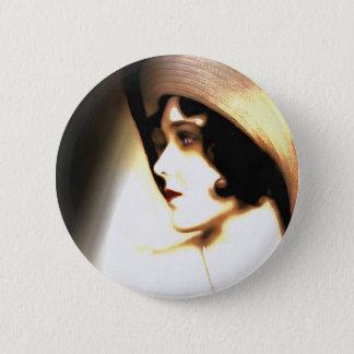 Silent Film Star Vintage 1920s Portrait Button