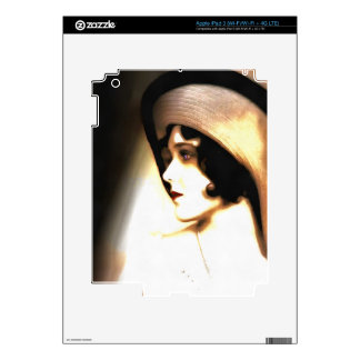 Silent Film Star Vintage 1920s Portrait iPad 3 Decals