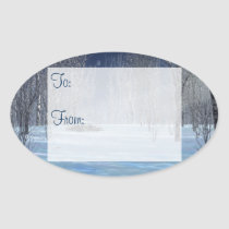 Silent Light Gift Tag Stickers