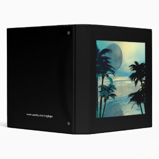 Silent Moon 3 Ring Binder