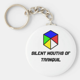 Silent mouths of tranquil keychain
