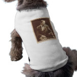 Silent movie actor Robert Warwick with pup bull Dog Clothes