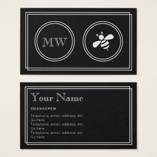 """""""Silent Movie"""" Beekeeper Business Cards"""