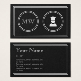 """""""Silent Movie"""" Chef Business Cards"""
