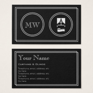 """""""Silent Movie"""" Curtains and Blinds Business Cards"""