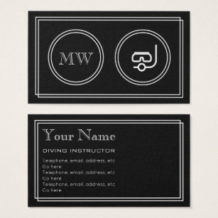Movie business cards templates zazzle silent movie diving instructor business cards colourmoves Gallery
