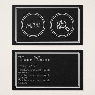 """Silent Movie"" Investigator Business Cards"