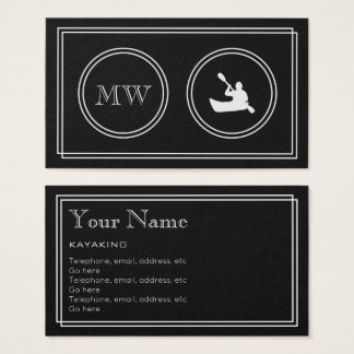 """Silent Movie"" Kayaking Business Cards"