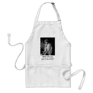 Silent Movie ~ Old Photo Adult Apron