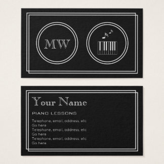 """""""Silent Movie"""" Pianist Business Cards"""