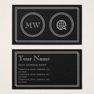 """""""Silent Movie"""" SEO Consultant Business Cards"""