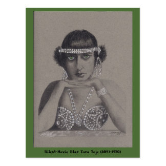 Silent-Movie Star Postcard