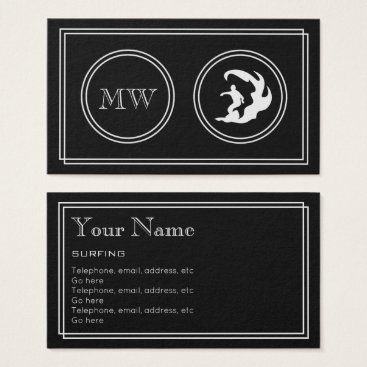 "Professional Business ""Silent Movie"" Surfing Business Cards"