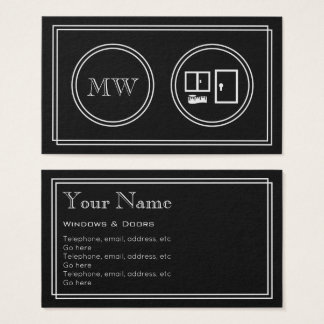 """""""Silent Movie"""" Windows and Doors Business Cards"""