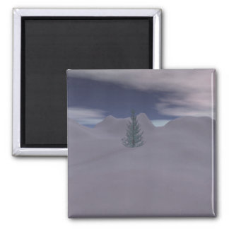 Silent Night 2 Inch Square Magnet