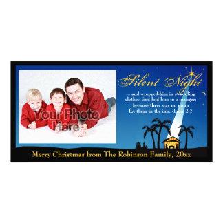 Silent Night Bible Verse Christian Christmas Photo Card