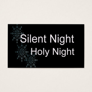 Silent Night Business Card