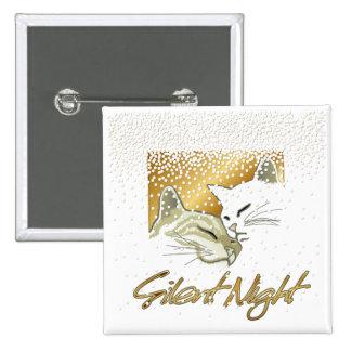 Silent Night 2 Inch Square Button
