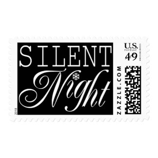 Silent Night Christmas Card Stamps