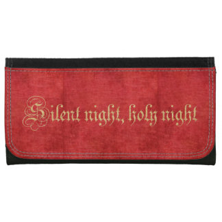 Silent Night - Christmas Carol Lyrics Wallets