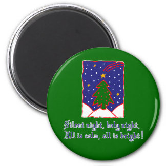 Silent Night Christmas Carol T-shirts, Apparel Magnet