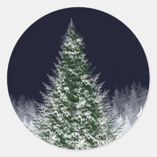 Silent Night Christmas Holdiay Xmas Card Seals