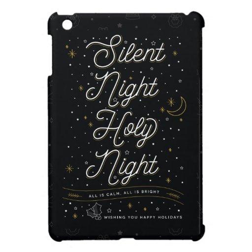 Silent Night Christmas iPad Mini Case Black